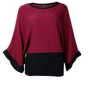 NWT Alfani colorblocked kimono sleeve sweater M